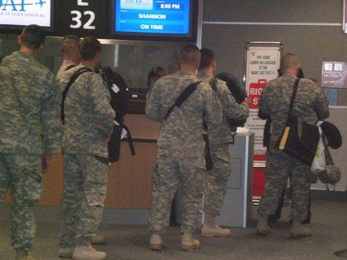 kev boarding plane