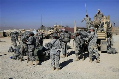 173rd ABCT arrives at FOB Shank 21 Nov 09