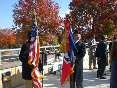 Unfurling the American Flag & Battalion Colors