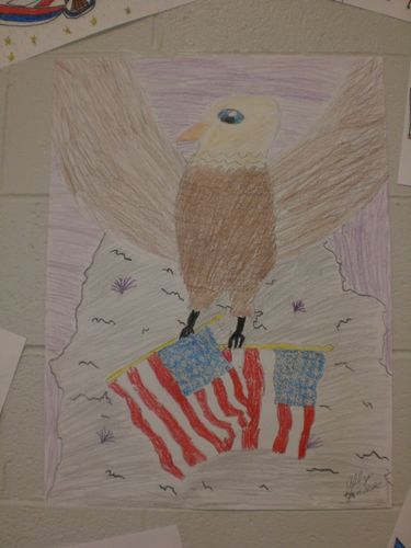 Patriotic drawing by student