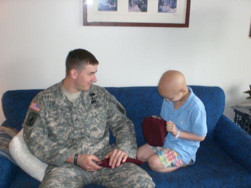 Ryan giving Evan Paratrooper beret 1