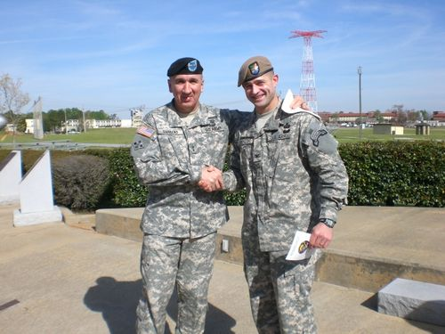Major Gen Michael Barbero (CG of Fort Benning) and COL William Ostlund
